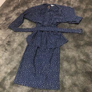 Vintage 80s peplum polkadot dress